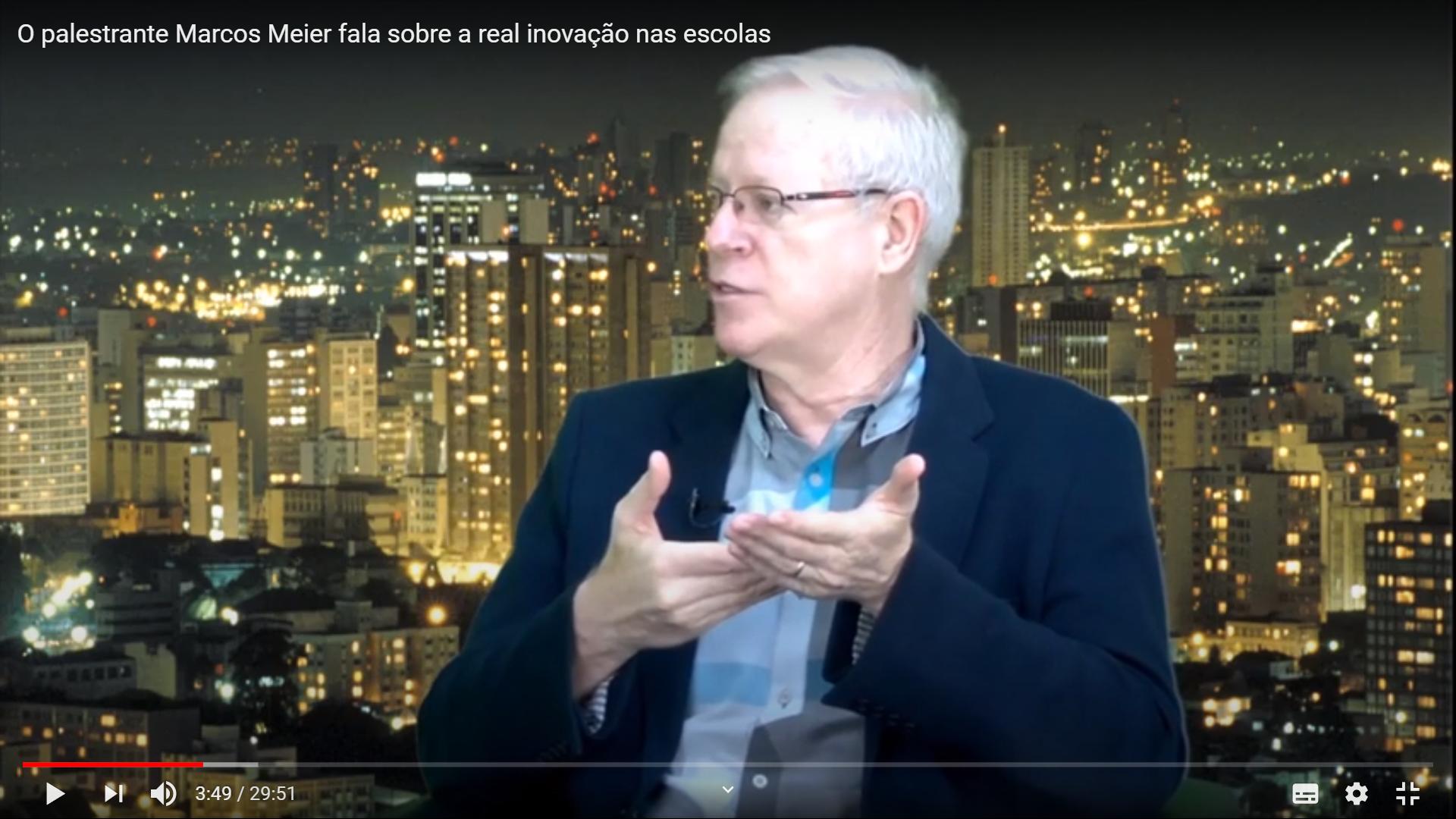 O palestrante Marcos Meier fala sobre a real inovação nas escolas