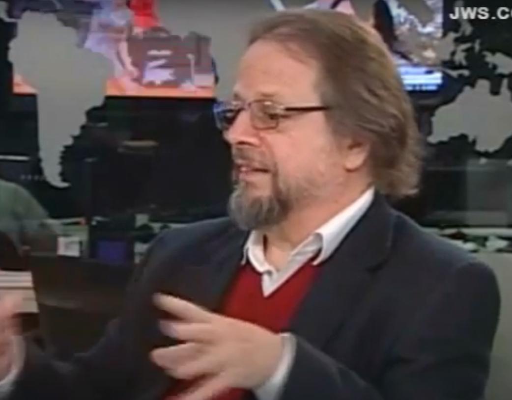 O escritor Cristovão Tezza em uma entrevista no ano de 2013